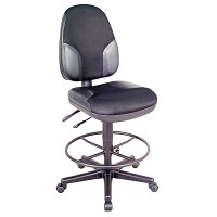 Monarch Black Mesh Drafting Chair