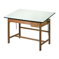 Alvin Drafting Table Titan 2 Wood Table 37.5 By 60 Drawers