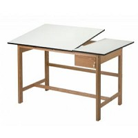 Alvin Drafting Table Titan 2 Table Split Top With Drawer 37 X 60