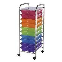 Blue Hills Studio 10 Drawer Multi Colored Cart