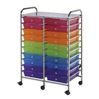 Blue Hills Studio 20 Drawer Multi Colored Cart
