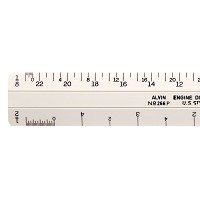 Alvin 260 Series 6 inch White Plastic Flat Architect Scale