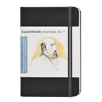 Handbook Journal Co Ivory Black 5.5.x3.5 Pocket Portrait Drawing Book