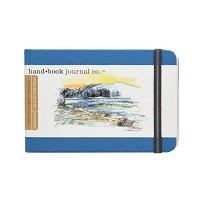 Handbook Journal Co Ultramine Blue 3.5.x5.5 Pocket Landscape Travelogue Drawing Book