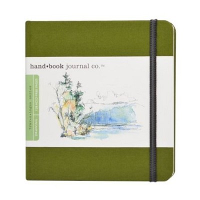 Handbook Journal Co Cadmium Green 5.5x5.5 Square Drawing Book