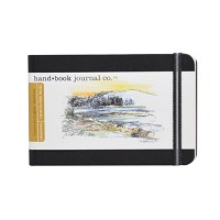 Handbook Journal Co Ivory Black 3.5.x5.5 Pocket Landscape Travelogue Drawing Book