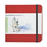 Handbook Journal Co Vermillion Red 5.5x5.5 Square Drawing Book