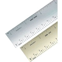 Alumicolor 3000 Series 12 inch Silver Solid Core Aluminum Triangular Architect Scale