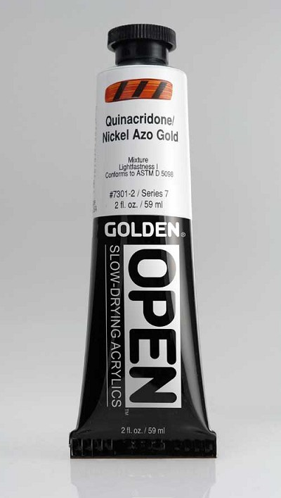 Golden Open Acrylics  Quin.Nickel Azo Gold 2 oz