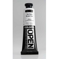 Golden Open Acrylics Van Dyke Brown Hue 2 oz