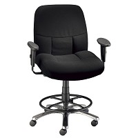 Olympian Black Drafting Chair