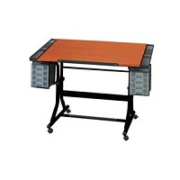 Alvin Drafting Table Craftmaster 2 Black Base 28 X 40 Cherry Top
