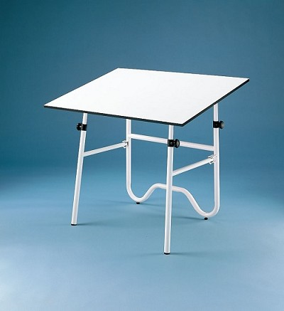 Alvin Drafting Table Onyx White Base 24X36 Top