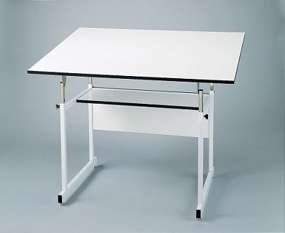 Alvin Drafting Table Workmaster Jr White With 36X48 Top