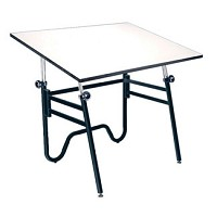 Alvin Drafting Table Opal Table Black Base 31X42 Top