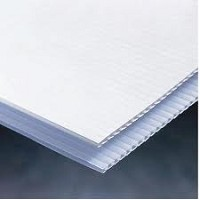 White Opaque Corr Board 4mm 48 x 96 10 pack