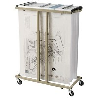 Alvin Mobile Racks for Large Format Documents-Holds 12