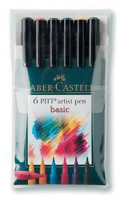 Artist Brush Pen 6 Basic Color