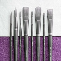 Grey Matters Brush Synthetic for Acrylic Round 1