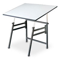 Alvin Drafting Table Professional With Black Base And 24X36 Top
