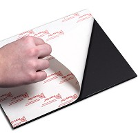 Pres-On 48 x 96 x 3/16 Self Adhesive Black Fome-Cor Board 12pk Hi Tack