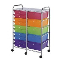 Blue Hills Studio 15 Drawer Multi-Colored Storage Cart