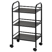 Blue Hills Studio 3 Shelf Black Mobile Cart