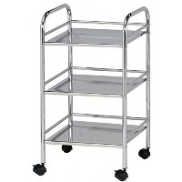 Blue Hills Studio 3 Shelf Chrome Mobile Cart
