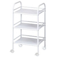 Blue Hills Studio 3 Shelf White Mobile Cart