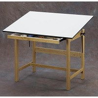 Alvin Drafting Table Titan Wood Table 37.5X60X37