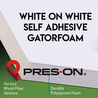 11 x 14 x 3/16th Pres-On White Self Adhesive Gator Board 25 sheets