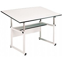 Alvin Drafting Table Workmaster Table White Base 37.5X60 Top