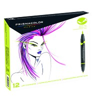 Prismacolor Brush Tip Marker 12 Primary Secondary Set
