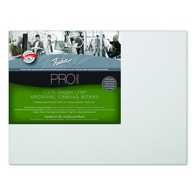 Pack Of 12 Fredrix Pro Series Archival Linen Canvas Panels 8X10