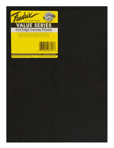 Fredrix Value Series Cut Edge Black Canvas Panel 8X10 6 Pack