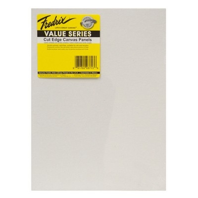 Fredrix Value Series Cut Edge Canvas Panel 9X12 6 Pack
