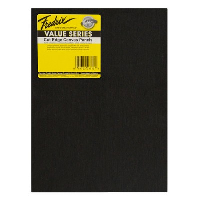 Fredrix Value Series Cut Edge Black Canvas Panel 9X12 6 Pack
