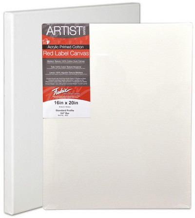 Pack Of 36 Fredrix Artist Series Red Label Stretch Canvas 6X6 11/16 Bars
