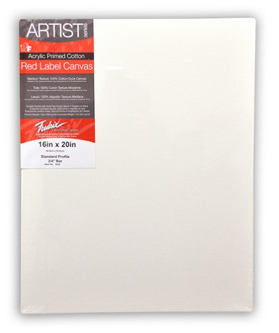 Pack Of 6 Fredrix Artist Series Red Label Stretch Canvas 11X14 11/16 Bars