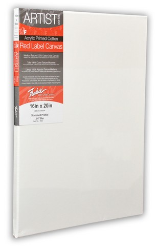 Pack Of 2 Fredrix Artist Series Red Label Stretch Canvas 24X48 11/16 Bars