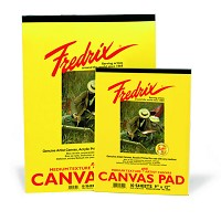 Fredrix White Real Canvas Pad 10 Sheets 8X10